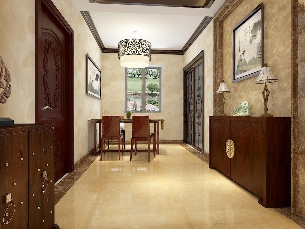 餐厅与客厅空间融为一体,各功能区域宽敞舒适 。营造一种低调静雅的感觉,让人身心舒适。沉淀、交融、延续、创新为本案的设计宗旨,在空间及软装设计上遵循中式文化的精髓:清新淡雅、内敛含蓄。
