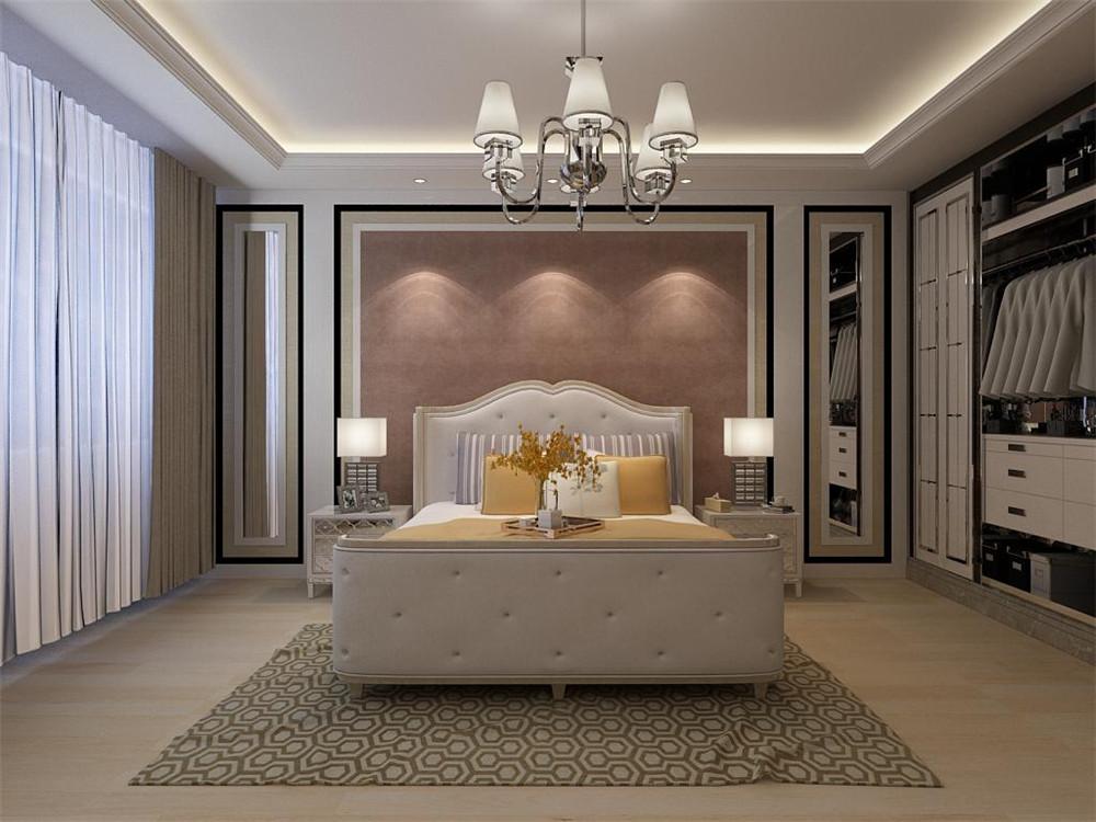 天津保利香槟国际简欧风格二居室装修效果图_110平米3图片