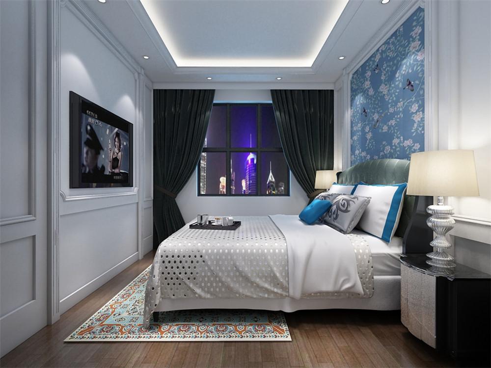 客厅的墙面做了一些很经典的欧式造型,附了墙纸,电视背景简洁自然,沙发背景墙也是简单了挂了一幅画,营造一下艺术的氛围。顶部造型很简单,简单的石膏线造型。餐厅同样如此,自然典雅。主卧室的床头做了软包的造型,电视背景贴了墙纸,和整体氛围相符合。顶面没有做过多的装饰,简单的石膏线造型。次卧室的床头部分贴了蓝色碎花壁纸,自然而浪漫。欧式风格兼备豪华、优雅、和谐、舒适、浪漫的特点,受到了越来越多业主的喜爱,还是比较流行的一种风格。
