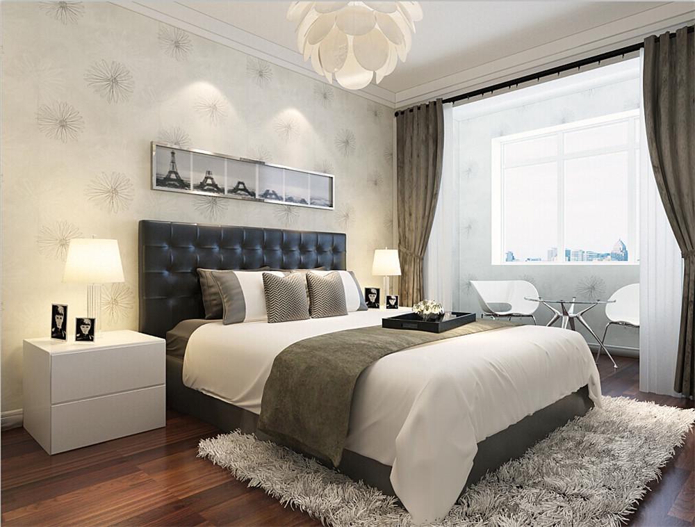 卧室和书房墙面贴壁纸。家具以浅色系为主,整体色调以暖色为主。现代简约风格是舒适与时尚的结合,也是装修发展的潮流。但在设计时,应多注意它所要表达的精神实质,体现自己风格的同时,也要注重健康时尚、注重合理节约科学消费。