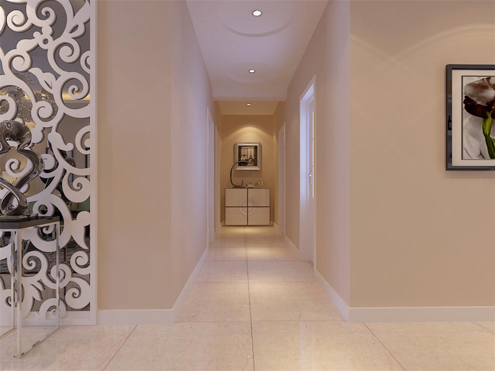 沙发背景墙以三幅简单的现代简约挂画加以装饰,整个空间显得现代感十足,其次,餐厅区域与客厅区域紧密相连,吊顶采用半弧形发光灯池吊顶,十分美观,餐桌两边分别摆放现代的酒柜及中间搭配简单的挂画,时尚,又惬意,给整个空间增添了一丝活跃感