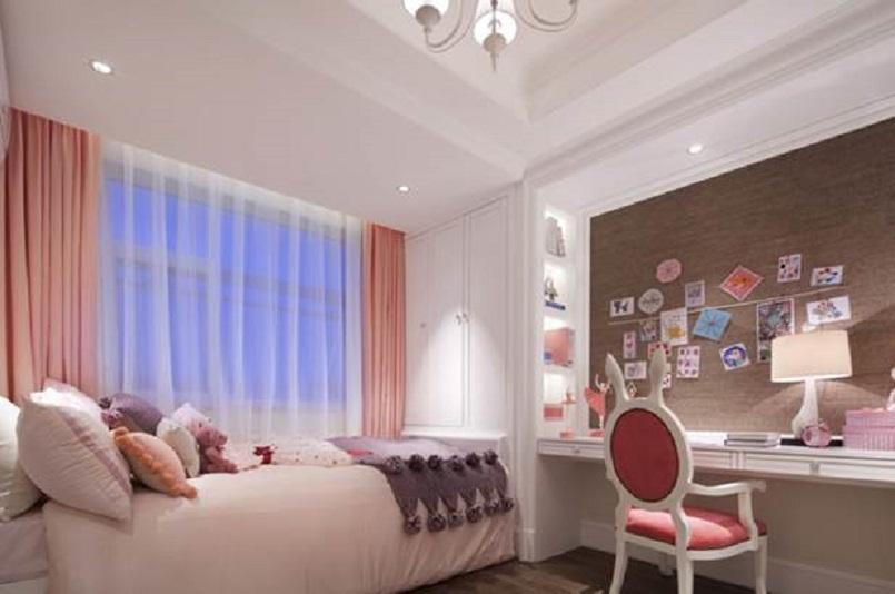 儿童房白色搭配粉色,去繁留简,可爱温馨。