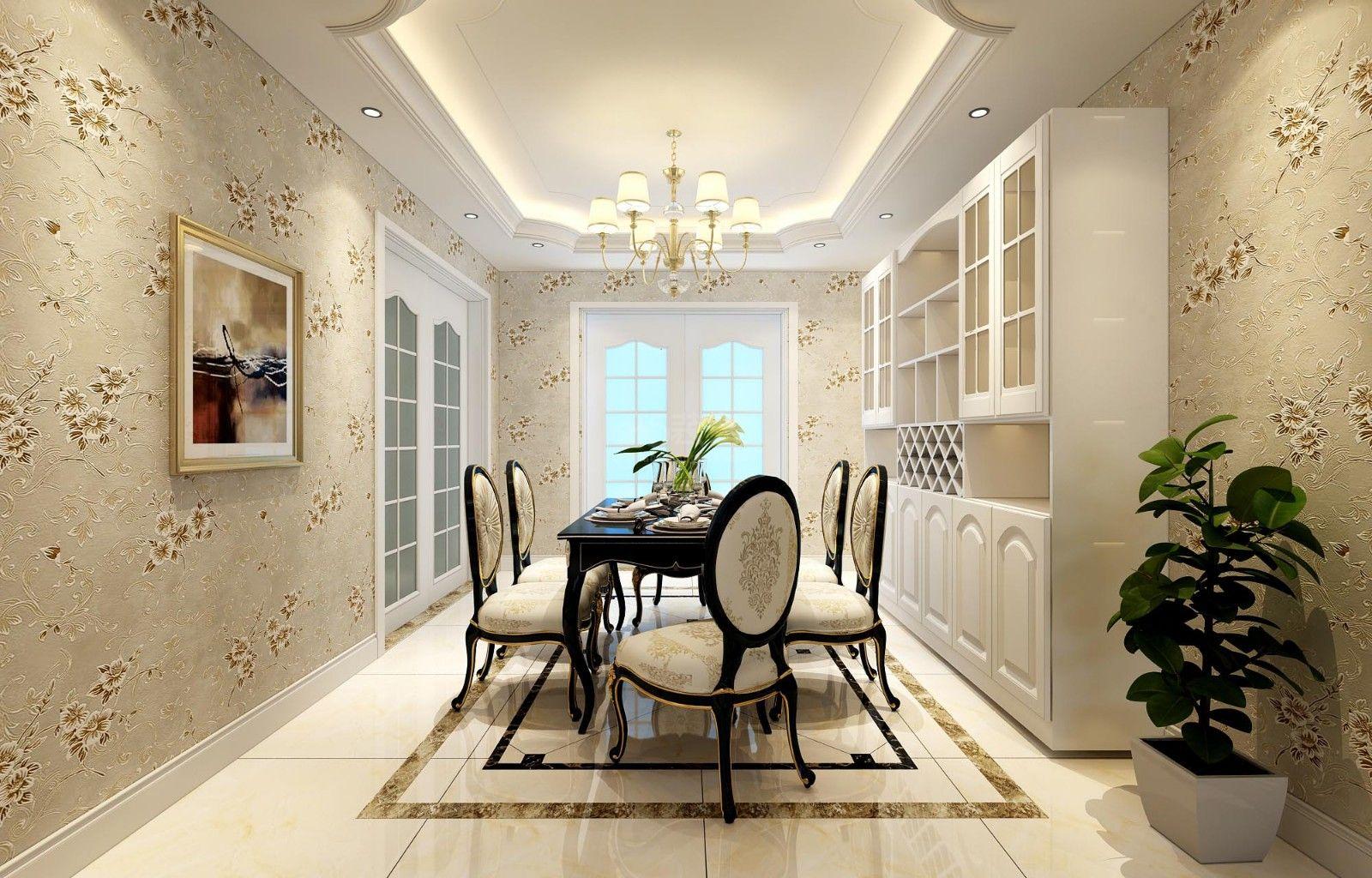 装修设计——本案是一套轻奢型的简欧风格,设计的非常大气,玄关到端景墙的这一部分设计的很漂亮,地面用的是斜铺法,加了波打线做修饰,进门就感觉十分大气,加上吊顶的设计,光是这一段就很出彩了,客厅的设计是典型的欧式风格元素,拱型的电视背景墙造型,材质用的是石材加石膏线,很低调贵气,吊顶却是去繁就简的,这样空间非但不压抑,还十分大气,这种壁纸用的也很大胆,做出来的效果为整个风增色不少,本案设计亦是亮点十足。