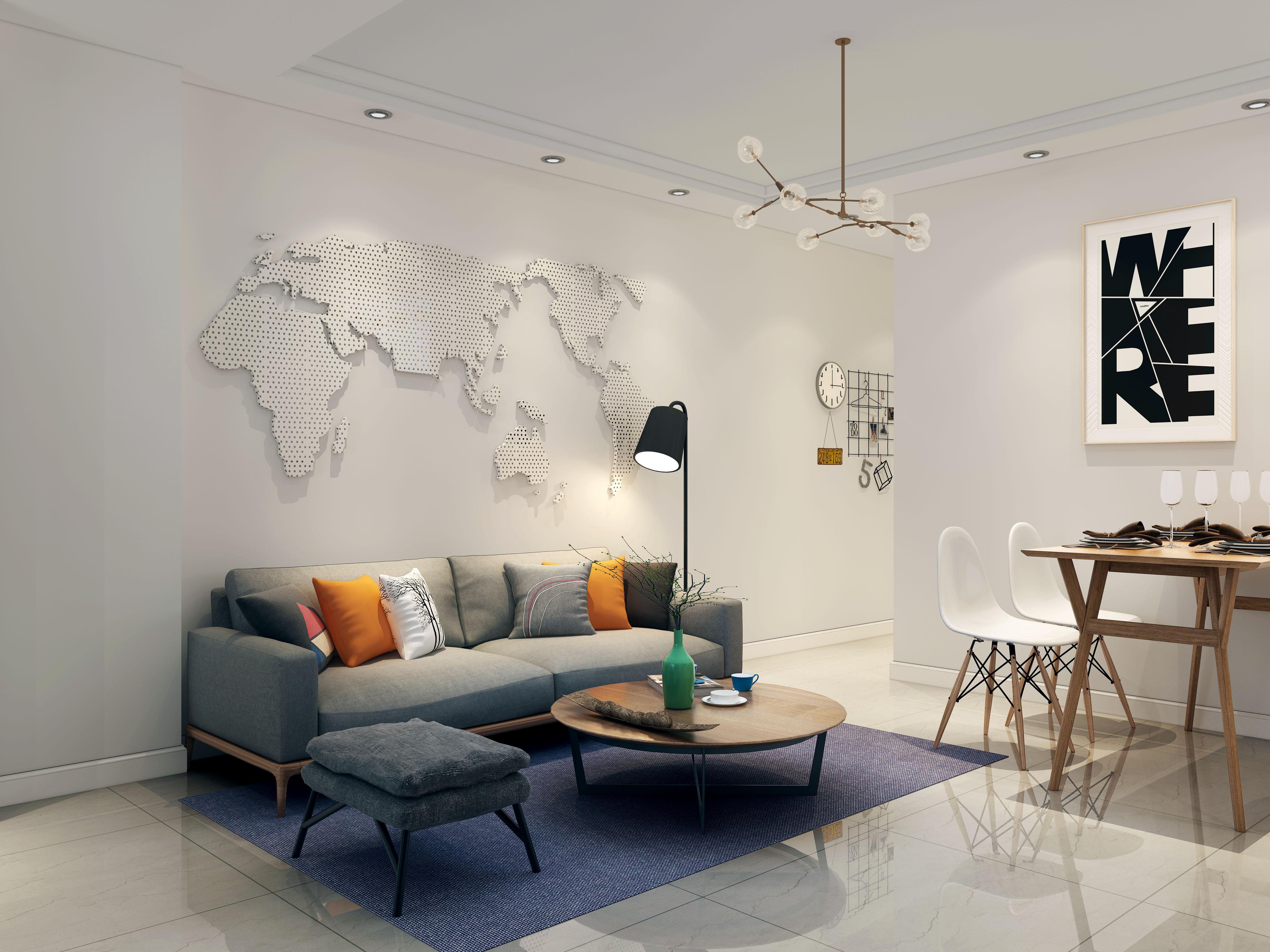 现代简约-136.04平米三居室