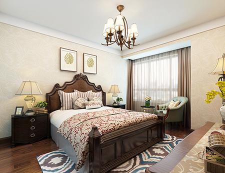 保利香槟143平米美式风格卧室设计案例图片