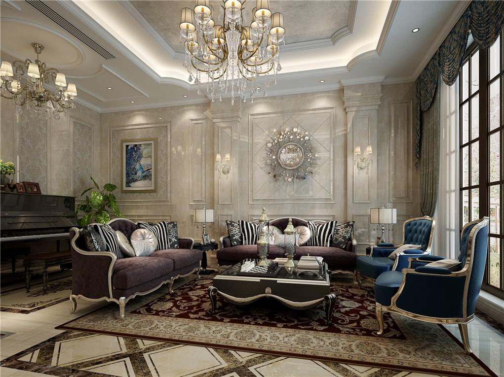 欧式风格的特征是强调线形流动的变化,将室内雕刻工艺集中在装饰和陈设艺术上,色彩华丽且用暖色调加以协调,变形的直线与曲线相互作用以及猫脚家具与装饰工艺手段的运用,构成室内华美厚重的气氛。它在形式上以浪漫主义为基础,常用大理石、华丽多彩的织物、精美的地毯、多姿曲线的家具,让室内显示出豪华、富丽的特点,充满强烈的动感效果