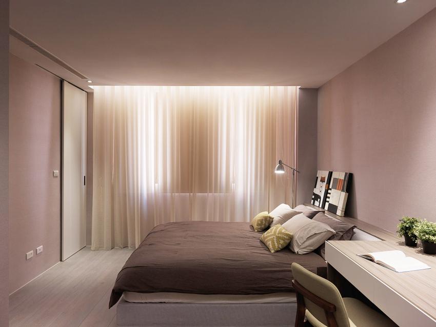 次卧,很舒服的颜色,助睡眠的同时很温暖。