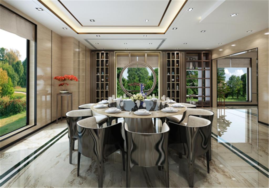 简洁明快,通透明亮的餐厅营造一种舒适的家庭聚餐环境,展现出富有朝气的生活气息。布局更规整,设计理念会更符合业主的需求。