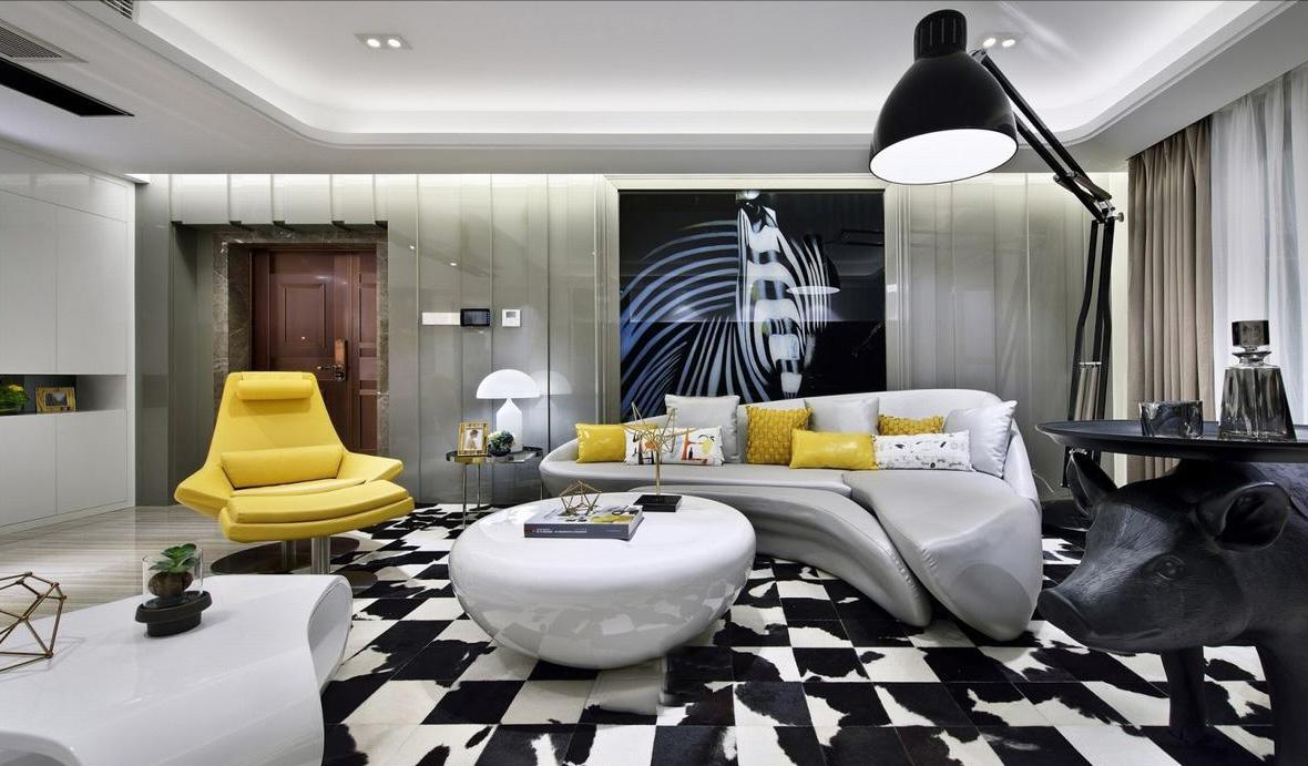 主打简约时尚为主,根据业主的生活与喜好的了解进行设计,突围传统的单一简约风格,以创意型注入色彩的搭配,让空间更充满艺术生活。