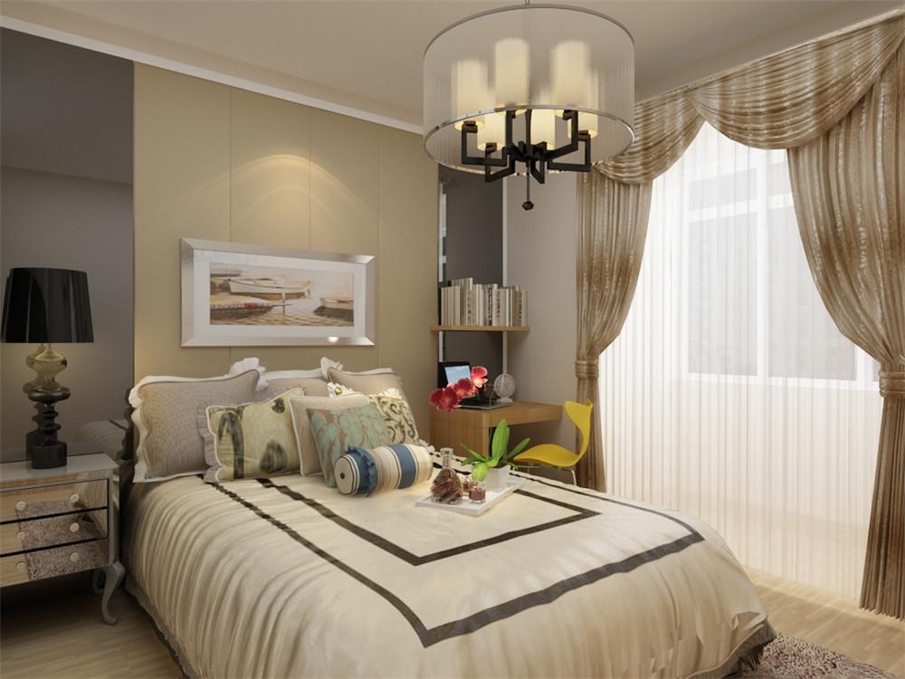 主卧的空间设计十分温馨,在享受客厅的大气感受后休息之余在温馨简单的卧室休息,精神更加