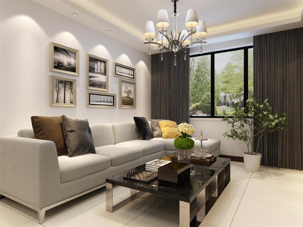 布艺的沙发为空间增添温暖简洁干净的气息,沙发靠窗户,光照也使空间看起来更干净,清新大方,富有韵律