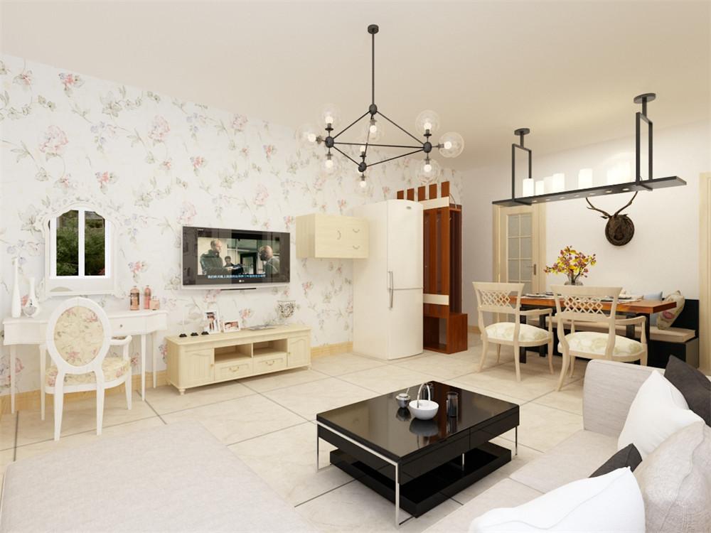 客厅设计讲究的是简约、稳重,深色的电视柜、茶几,浅色的沙发。光照也使空间看起来更通透明亮,富贵大方,别有韵律