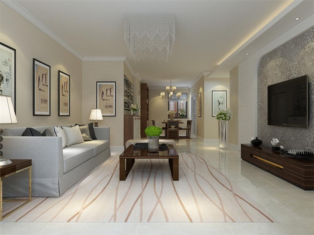 布艺的沙发。将现代风格的特点衬托得更加凸出。简洁和实用是现代风格家具的基本特点。