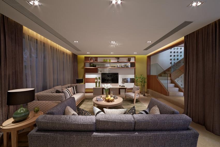 122.19平米三居室热门案例 现代简约半包6万!-鲁能城·中央公馆装修