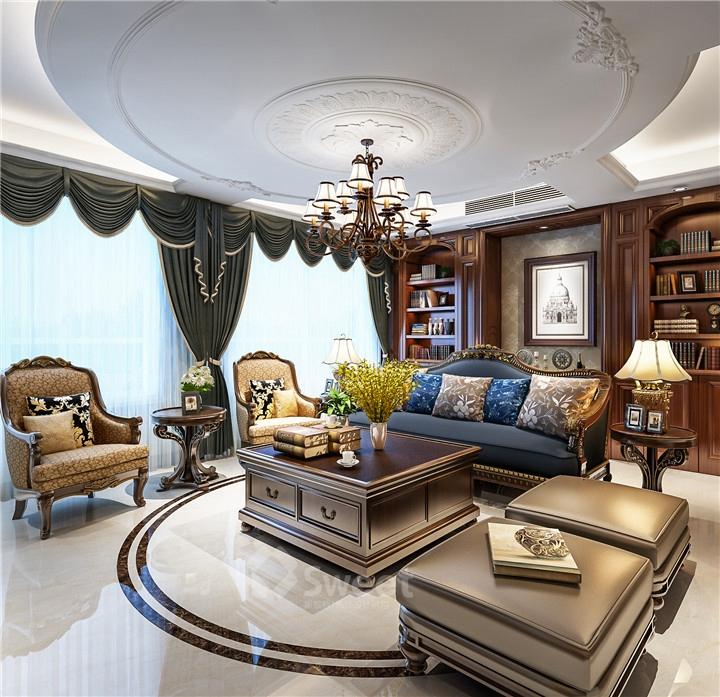 客厅的装修风格,客厅作为待客区域,一般要求简洁明快,同时装修较其它空间要更明快光鲜,通常使用大量的石材和木饰面装饰;美国人喜欢有历史感的东西,总体而言,美式田园风格的客厅是宽敞而富有历史气息的。