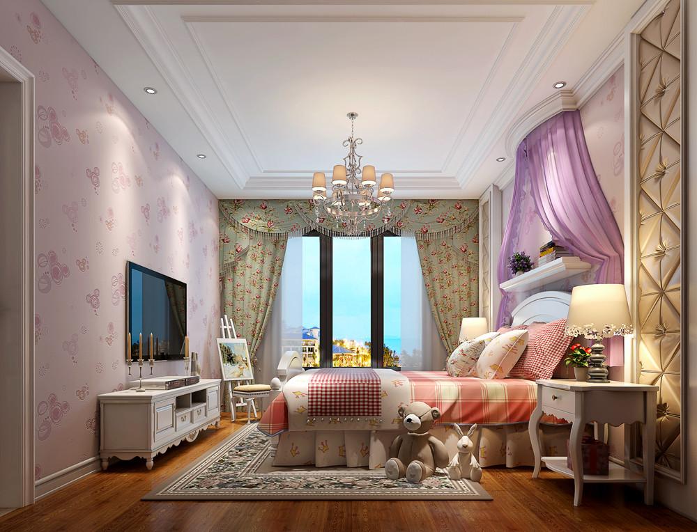 欧式风格三居室装修效果图89平米11万欧式风格三居室图片