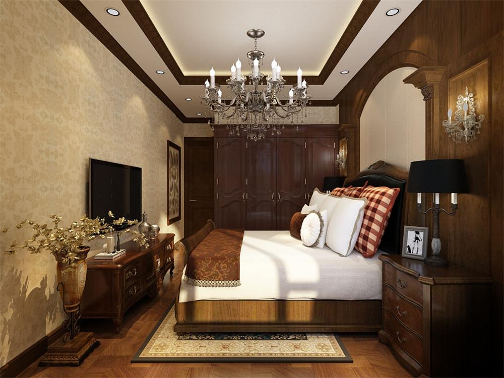 主卧的左面为客厅,地面采用800*800大理石地砖斜铺,墙面铺装大理石,方便收拾又很美观