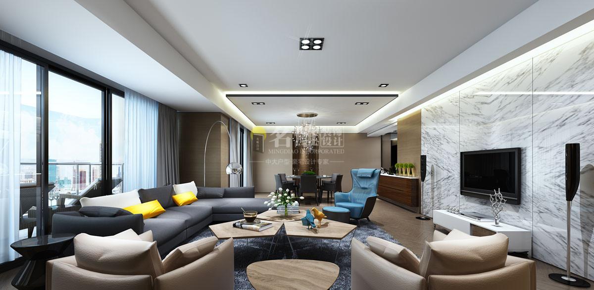 现代简约装修客厅效果图