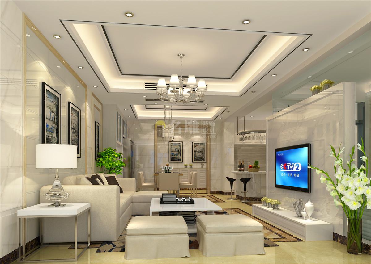 白色的沙发、茶几,完美的将时尚与简约融合。室内融合一个看起来简单的角落设计,其实都凝结着设计师的独具匠心,既美观又实用。