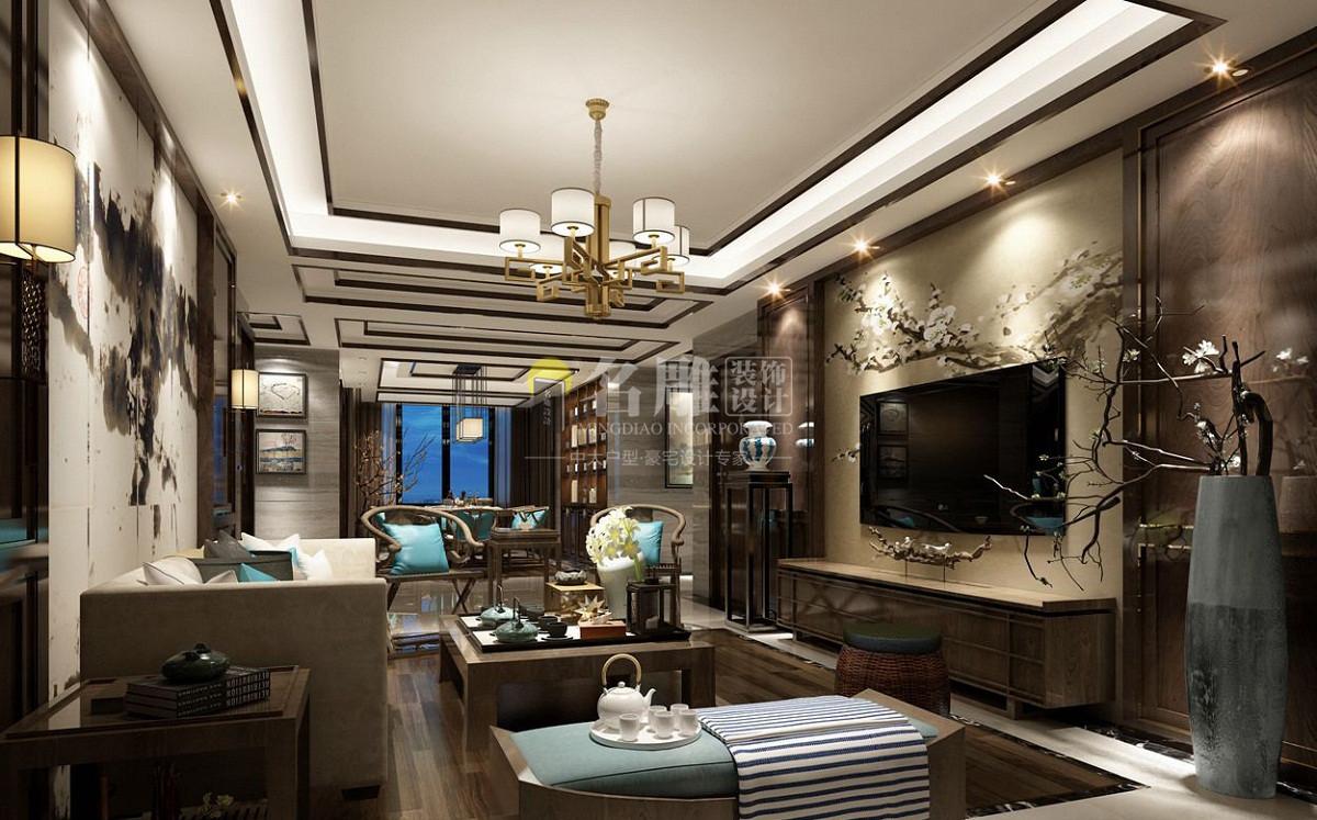 中式装修风格客厅效果图
