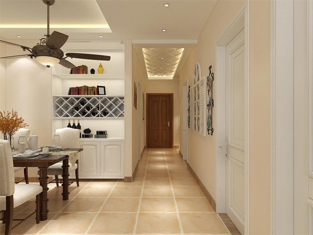 餐厅我把厨房有设计平开门,也是考虑到了室内的空气也是为了方便。地面都是500*500大地转通铺过去的。