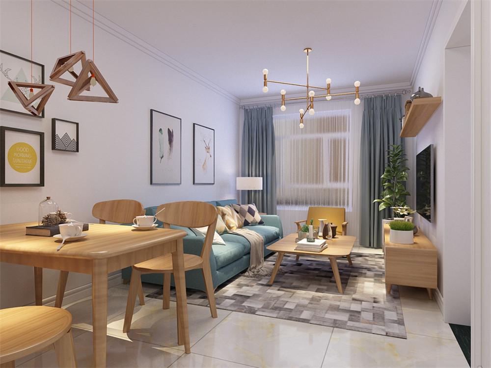 客厅作为待客区域,要明快光鲜,用木隔板电视墙实用美观,使整体上有一种宽敞而富有现代时尚气息。墙面采用白色乳胶漆,这样使视觉上具有层次感,色彩也更加温馨舒适。