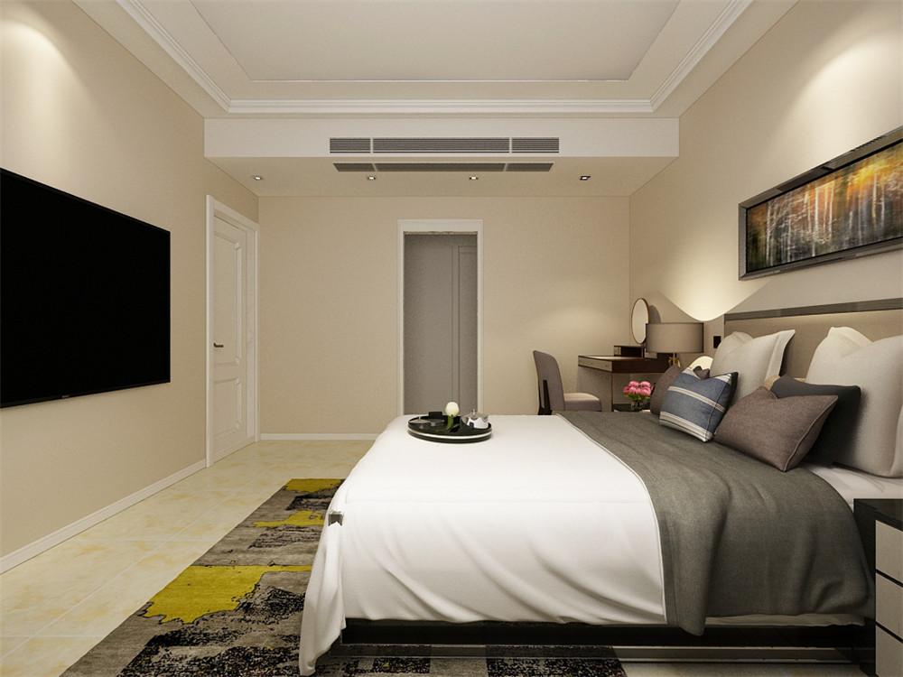卧室的设计很舒适,家具的选择较为简单,卧室的设计舒适大气,家具的颜色选择大部分为灰色系。