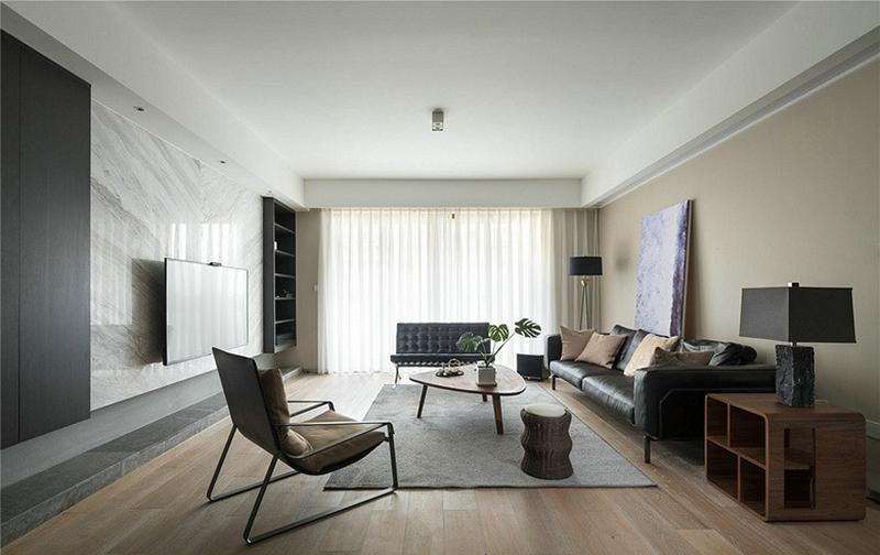 115平米的房子全包装修多少钱?混搭风格三居室设计说明!-湾上风华装修