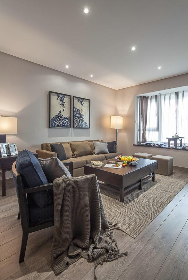 129平米现代简约风格四居室,预算13万,点击看效果图!-保利时代装修