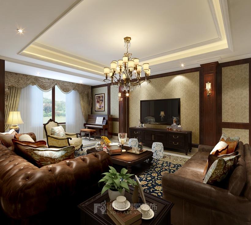 400平米三居室装修攻略 美式全包120万!-明珠花园装修