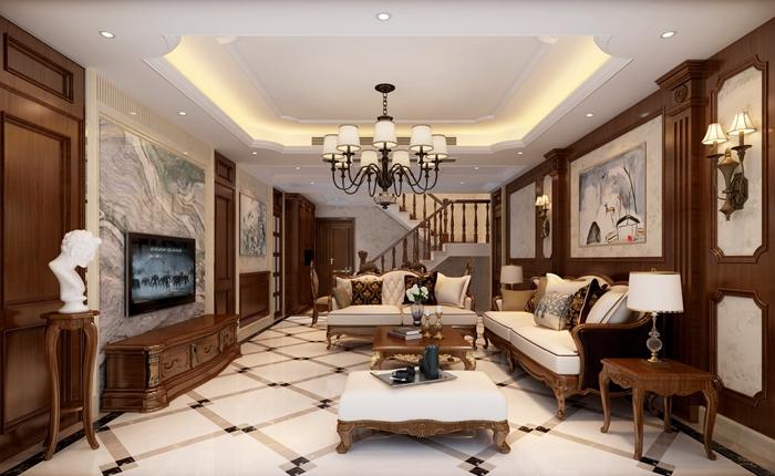 159平米三居室装修案例 现代简约全包21万!-南湖国际社区二期装修