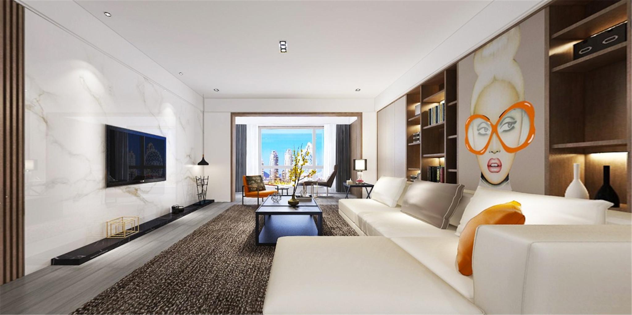 客厅1.2.3: 公区设计时大面积使用统一的材质 又恰到好处的将材质及色调融合 对比。使整个空间充满现代感,设计感。不随波逐流,也不哗众取 宠,对设计有著自我的信仰与期待。强调生活应该是一种美学的表现。