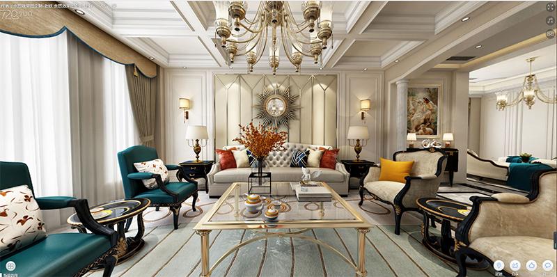 368平米三居室热门案例 简欧半包18万!-融创理想城市装修