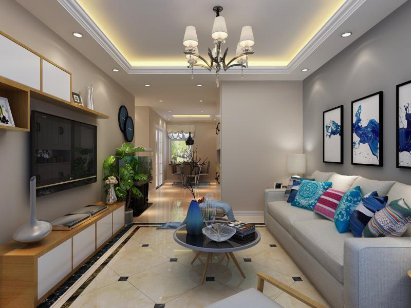95平米三居室热门案例 现代简约半包5万!-新城香溢紫郡二期装修