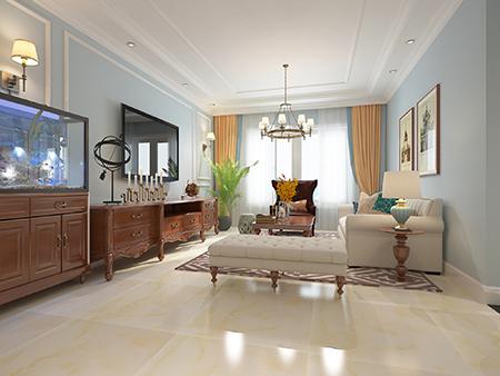 127平米三居室装修秘籍 西式古典半包5万!-富力华庭装修
