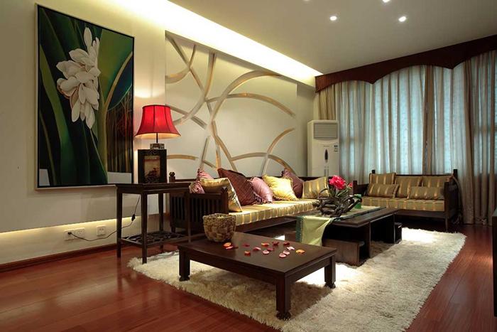 70.27平米二居室精美装修 中式古典半包3万!-世茂茂悦府装修