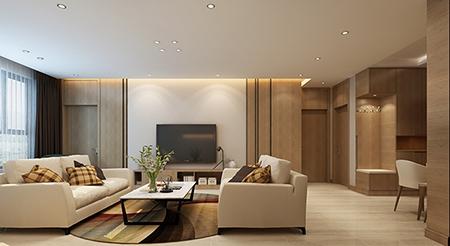 122平米三居室装修秘籍 欧美风情半包6万!-富力华庭装修