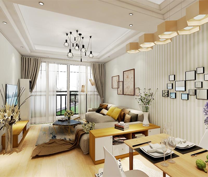 95平米三居室如何装修 现代简约全包9万!-金科观天下装修
