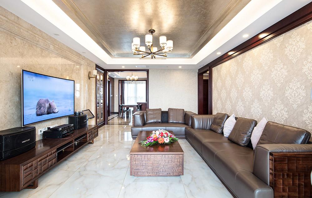 134.14平米三居室如何装修 中式全包26万!-金湖湾装修