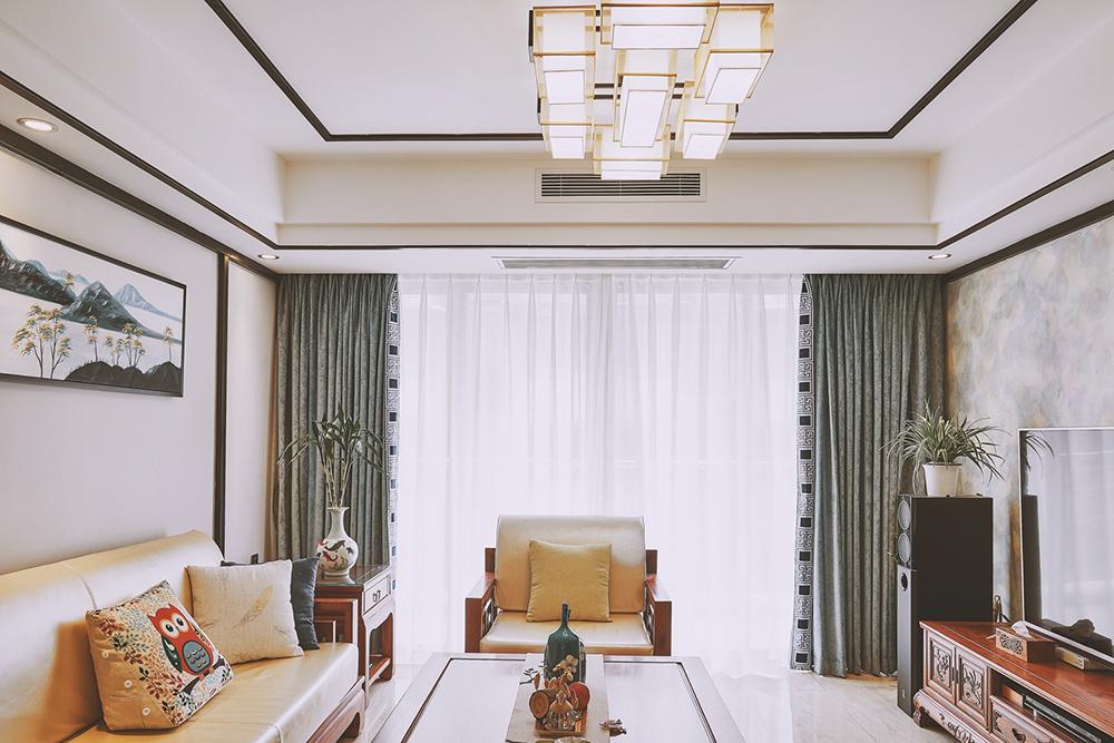 139平米三居室装修秘籍 中式古典全包15万!-恒厚阳光城装修