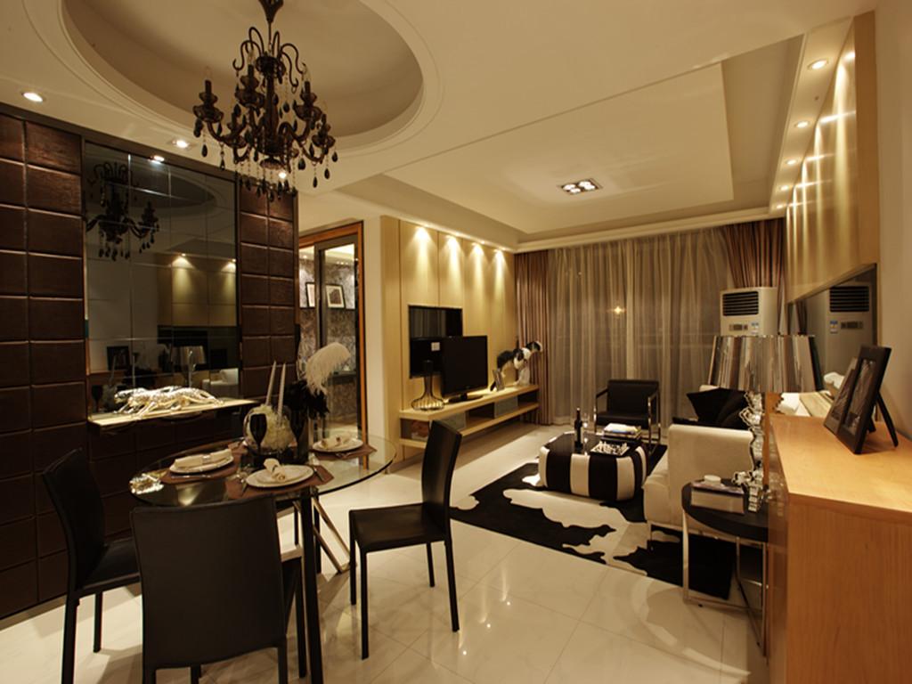 115平米三居室装修案例 现代简约全包12万!-建发独墅湾装修