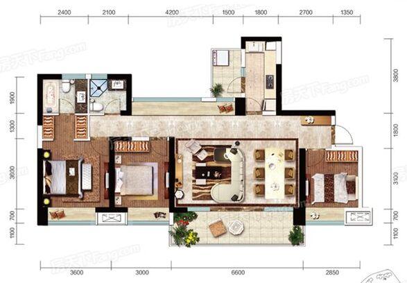 127平米三居室装修案例 美式全包11万!-电建地产洺悦府装修