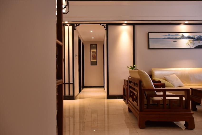 104平米三居室装修案例 新中式半包5万!-融创凡尔赛花园装修