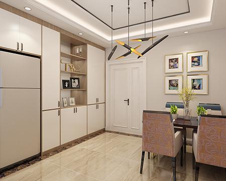 89平米二居室精美装修 现代简约半包4万!-富力华庭装修