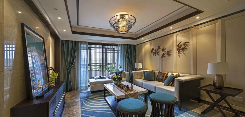 142平米四居室装修案例 中式古典全包17万!-东骏湖景湾装修