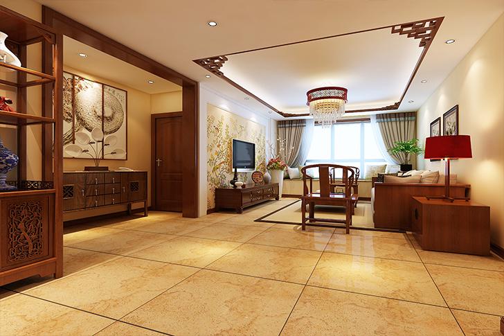 130平米四居室如何装修 中式全包16万!-华润中央公园装修