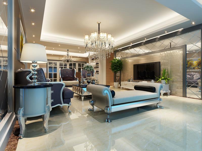 280平米三居室热门案例 现代简约全包33万!-龙湖世纪峰景装修