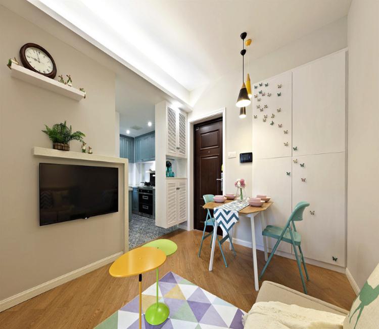 80平米二居室热门案例 现代简约全包15万!-文明路小区装修