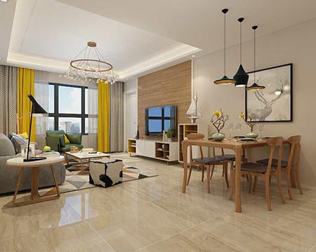 122平米三居室装修攻略 现代简约半包6万!-富力华庭装修