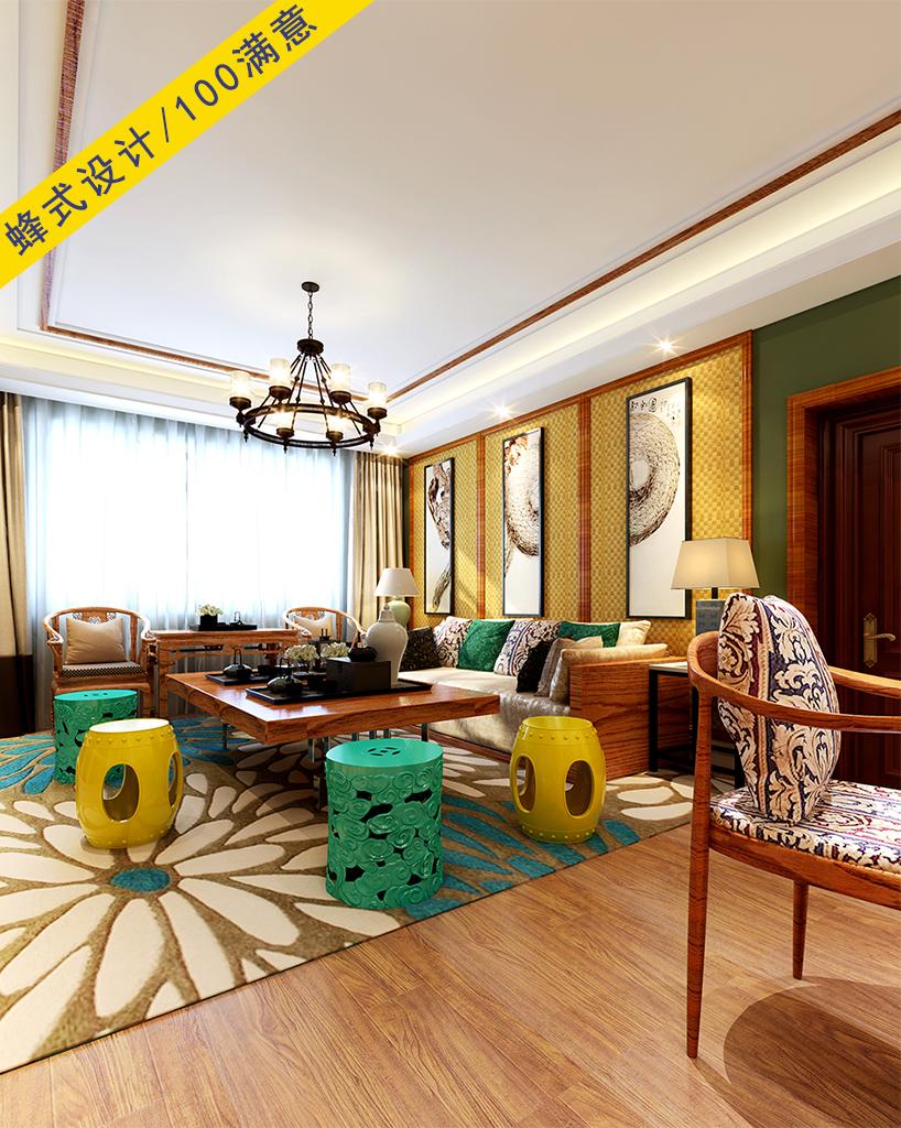 144.61平米四居室热门案例 东南亚全包29万!-滇池名门装修